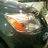 Headlight cleening